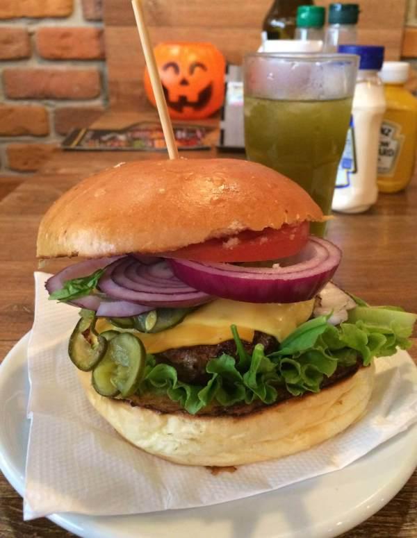 Hamburgueria Descolado duo salad burger os3fominhas