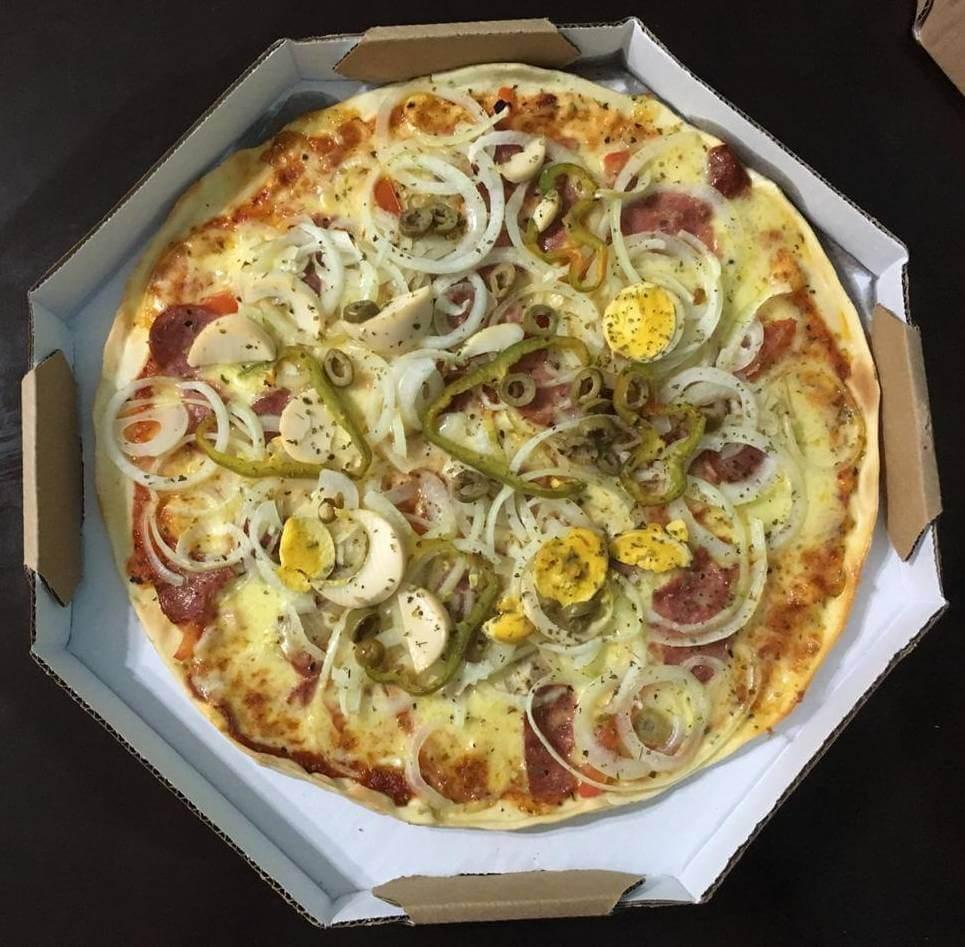 pizza de portuguesa da Pizzaria Estrela do Rio - os3fominhas