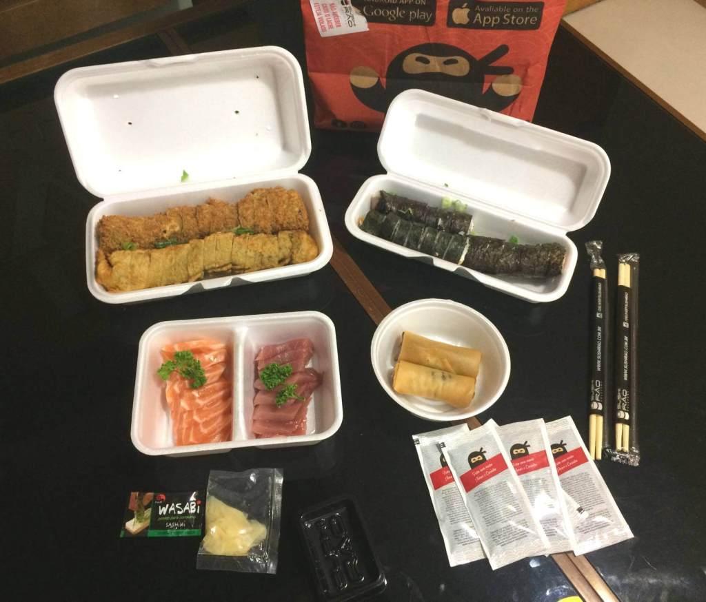 pedido aberto do Sushi Rão - os3fominhas