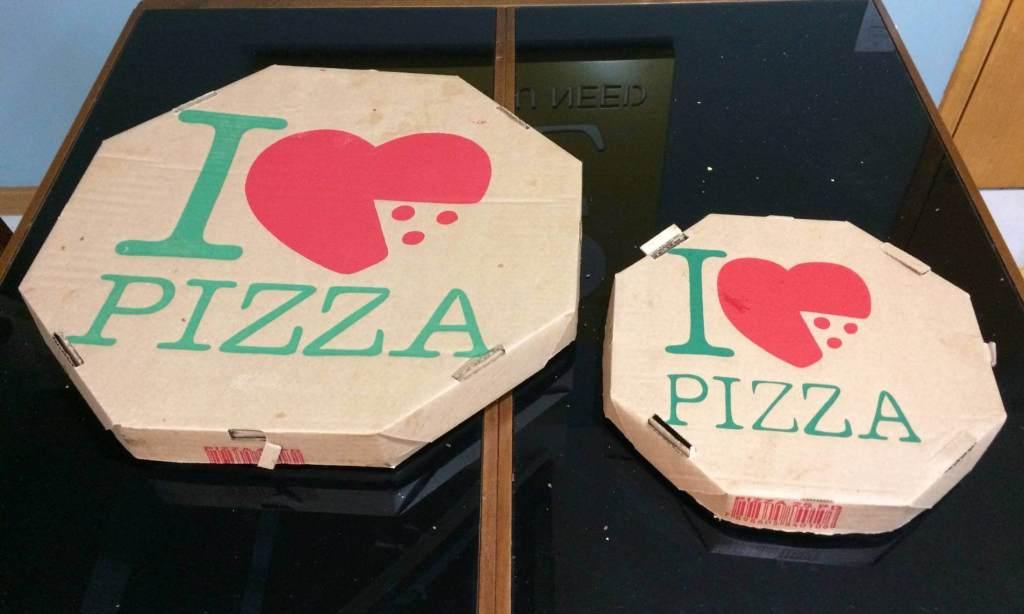 embalagem da pizzaria Rustica com os3fominhas