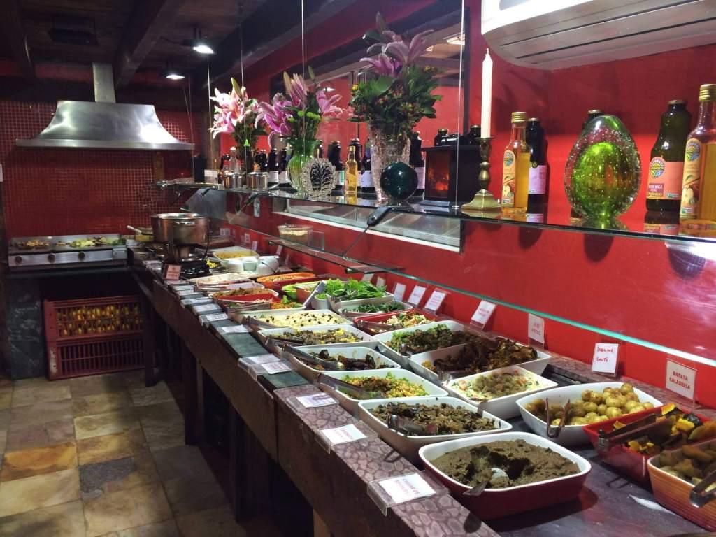 buffet refeitório orgânico com os3fominhas