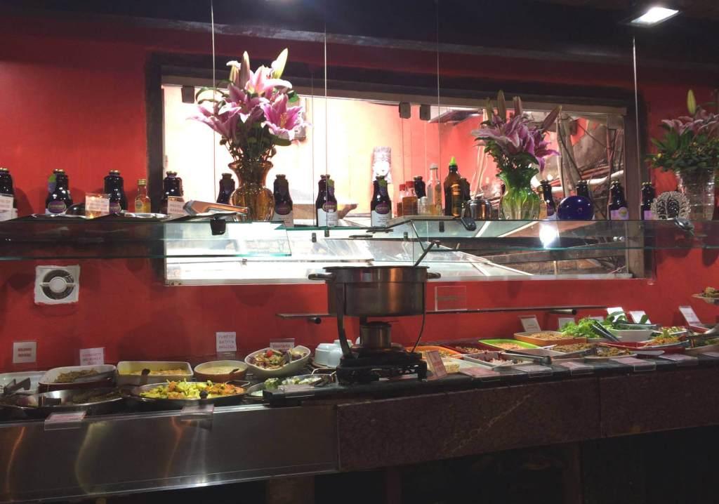 buffet do refeitório orgânico com os3fominhas