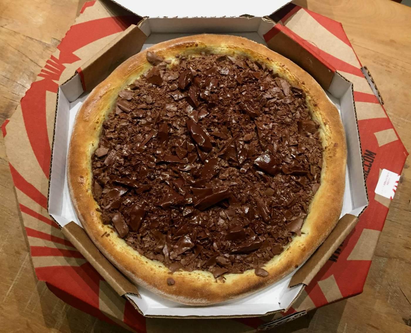 pizza chocolate da Forneria Original com os3fominhas