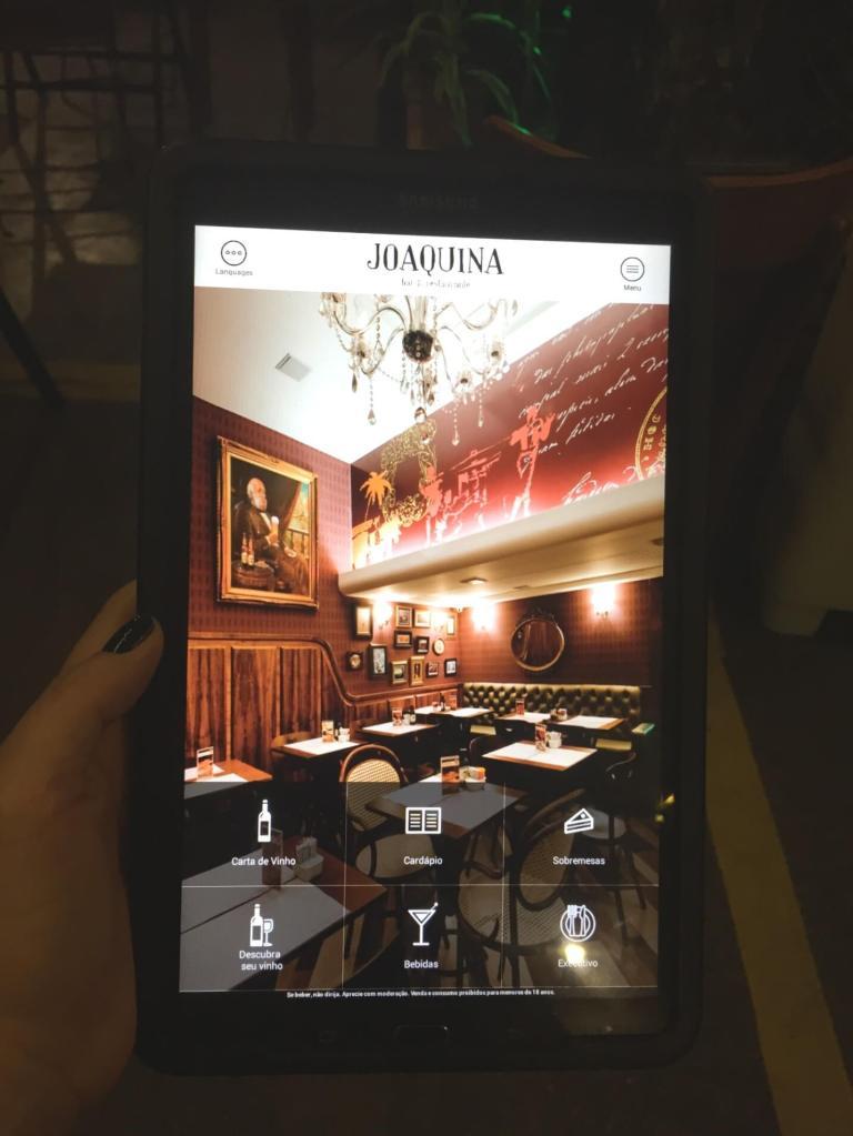 tablet para pedidos do Joaquina com os3fominhas
