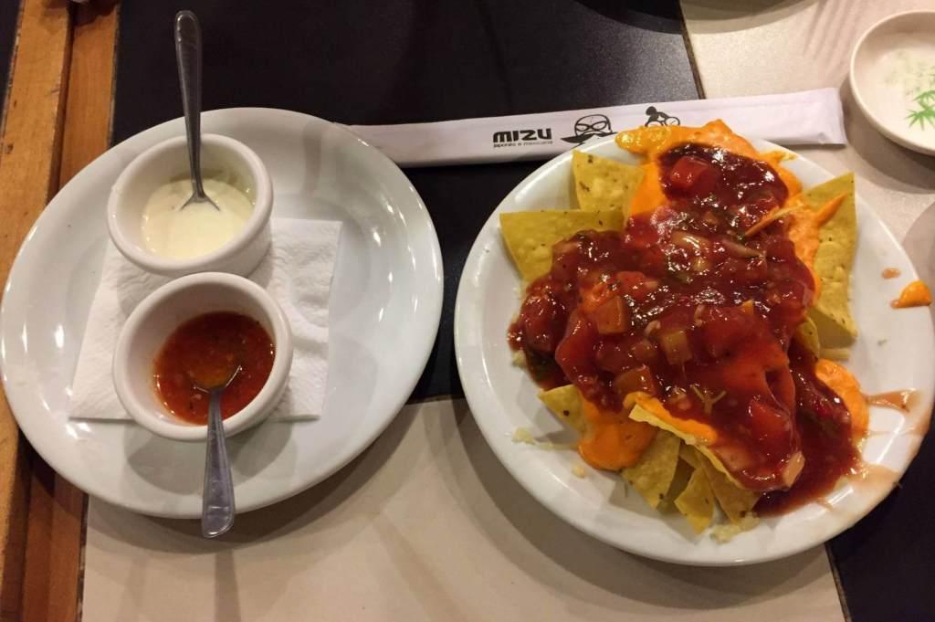 nachos do Restaurante Mizu com os3fominhas