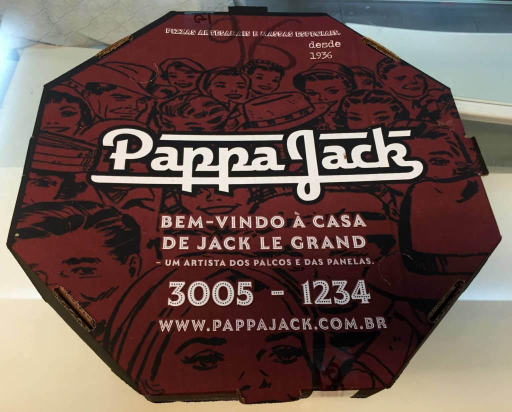 embalagem de pizza do Pappa Jack com os3fominhas