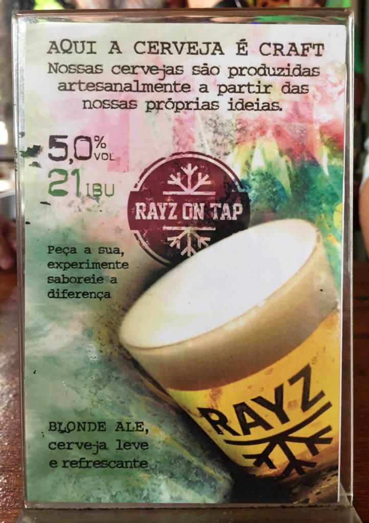 explicação da cerveja do Restaurante Rayz com os3fominhas
