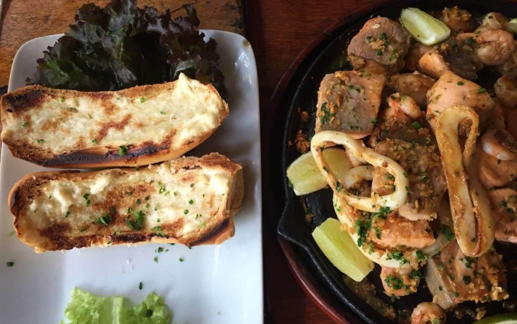 tabua de frutos do mar do Restaurante Rayz com os3fominhas