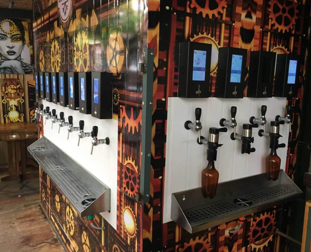 torneiras de cerveja artesanal do Restaurante Rayz com os3fominhas