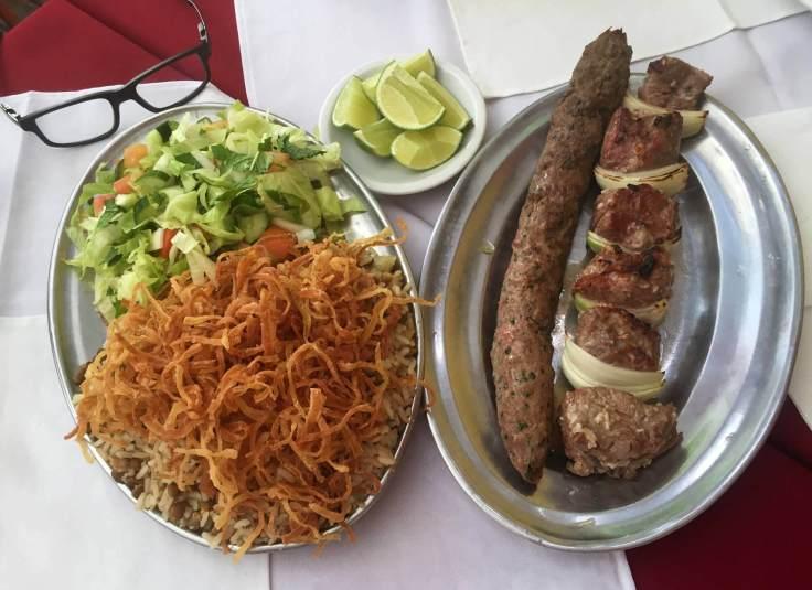 prato misto árabe do Stambul com os3fominhas