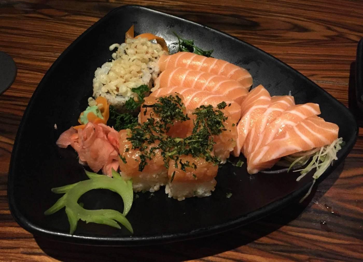 combinado de salmão do Xian com os3fominhas