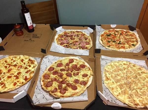 promoção 5 pizzas no Borda e Lenha pizzaria com os3fominhas