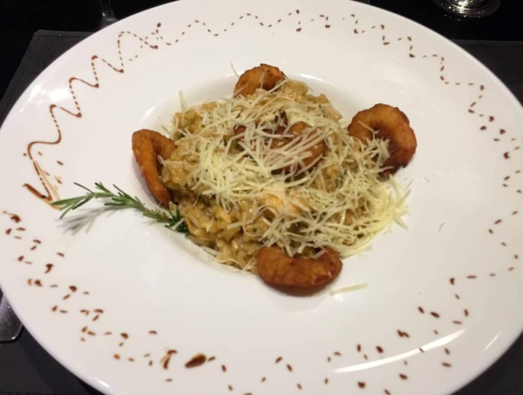 risoto de camarão do restaurante Scotton com os3fominhas