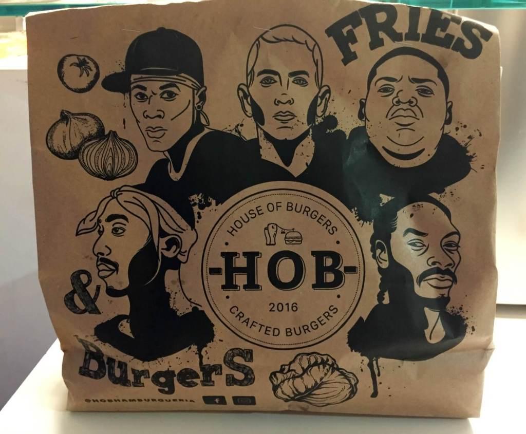 Hob embalagem dos hamburgueres os3fominhas