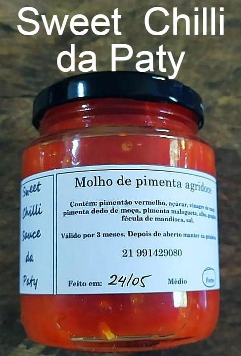 molho de pimenta artesanal da Paty com os3fominhas