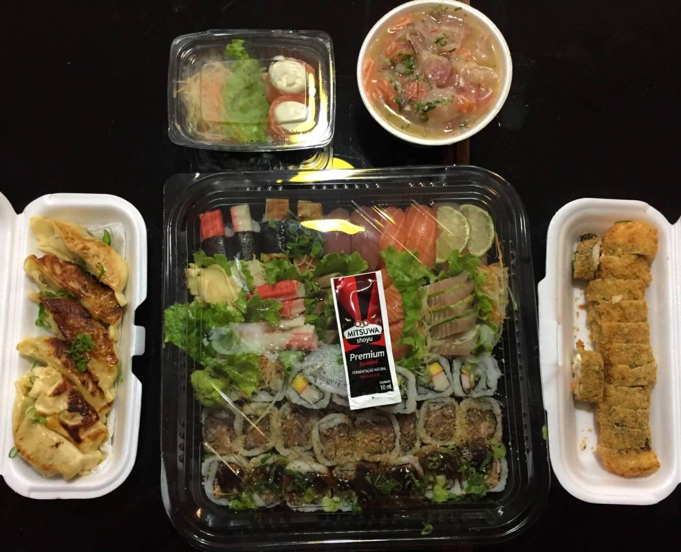 Joy Maki Sushi combinado guiosa hot philadelphia ceviche dupla joy com os3fominhas