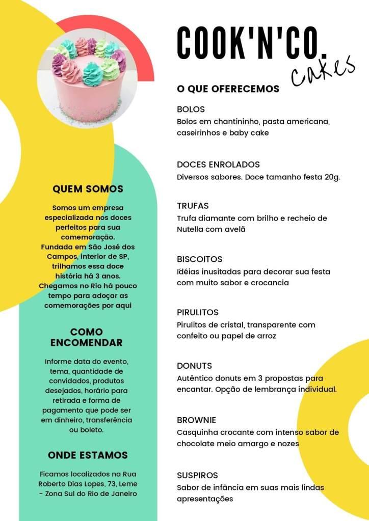 catalogo da cooknco cakes com os3fominhas