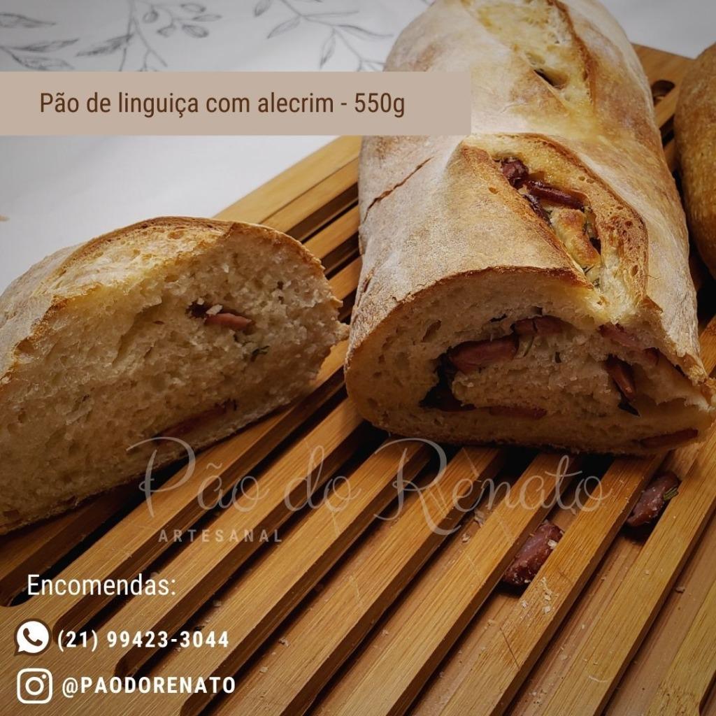 pão de linguiça com alecrim do Renato com os3fominhas
