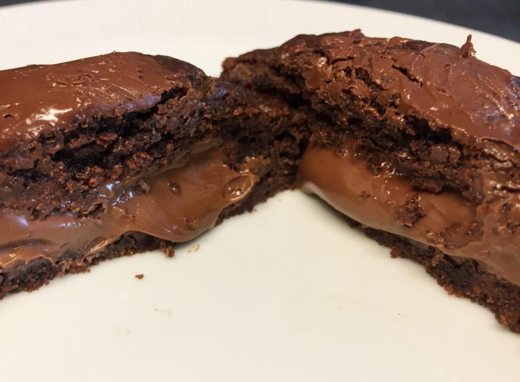 cookie chocolate recheado Cookery com os3fominhas